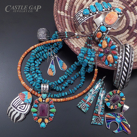 Multi-stone sterling silver jewelry at Caste Gap Jewelry