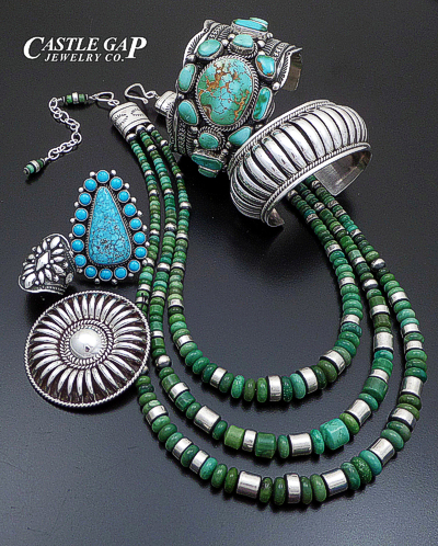 Turquoise and Sterling Silver Native American Jewelry