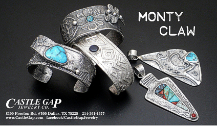 Monty Claw tufa cast sterling silver jewelry
