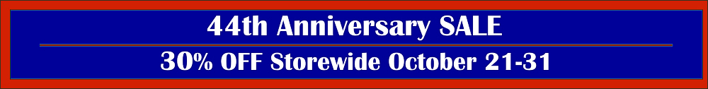 44th Anniversary Sale Banner