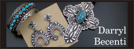 Darryl Becenti sterling silver jewelry collection