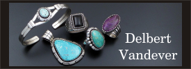 Delbert Vandever sterling silver jewelry collection