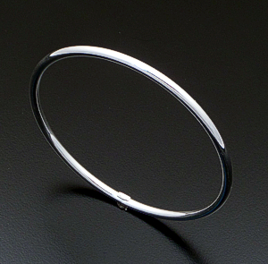 Smooth Sterling Silver Round Bangle Bracelet #31384 $30.00