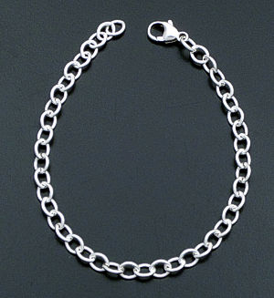 Mini Cable Sterling Silver Charm Bracelet 29335 $25.00-$35.00
