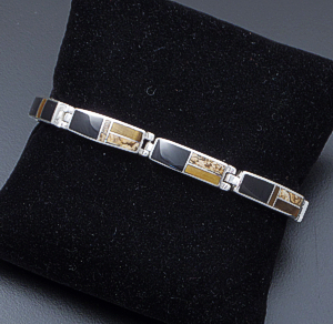 Supersmith Inc. - David Rosales Designs - Native Earth Inlay & Sterling Silver Rectangular Link Bracelet #41627 Item 2 Style BR105 $475.00