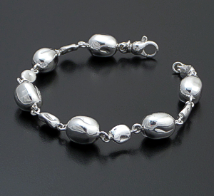Zina - Baroque Pearl Sterling Silver Mixed Bead Bracelet #43079 $195.00