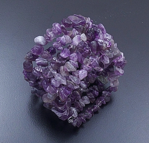 Castle Gap Designs - Amethyst Five Row Coil Bracelet #41788 $50.00