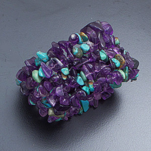 Castle Gap Designs - Amethyst & Turquoise Five Row Coil Bracelet #41791 $50.00