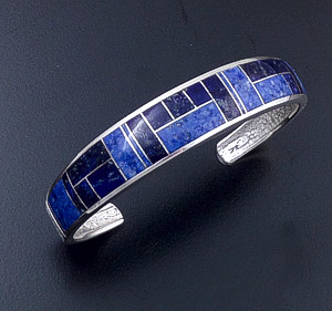 Supersmith Inc. - David Rosales Designs - Blue Water Tapered Sterling Silver Cuff Bracelet #33140 Style BR120 $515.00