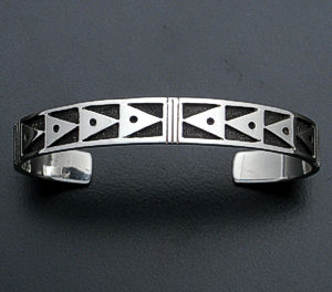 Supersmith Inc. - David Rosales Designs - Silver Country Sterling Silver Cuff Bracelet #33908 Style BR3234 $195.00