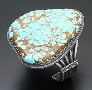 Andy Cadman - Large #8 Turquoise & Sterling Silver Cuff Bracelet #36675 $2,950.00