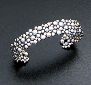 Zina - Raindrops Cluster Sterling Silver Cuff Bracelet #40878 $350.00