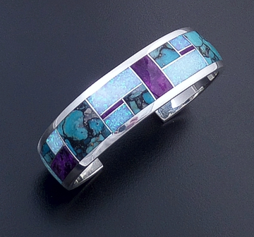 Supersmith Inc. - David Rosales Designs - Shalako Arrow Design Fancy Sterling Silver Cuff Bracelet #4189 Style BR119 $720.00