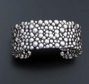 Zina  - Wide Raindrops Sterling Silver Cluster Cuff Bracelet #42480 $450.00