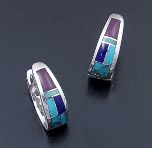 Supersmith Inc. - David Rosales Designs - Spring Mountain Sterling Silver Huggie Hoop Earrings #18854 Style ER307 $220.00
