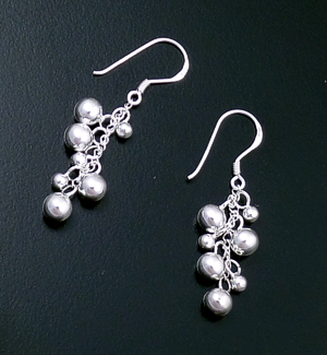 Waterfall Sterling Silver Multi-bead Dangle Earrings #28818 $40.00