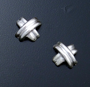 Zina - Sterling Silver X Stud Earrings #36871 $90.00