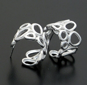 Zina - Sterling Silver Open Geometrics Hoop Earrings #36872 $150.00