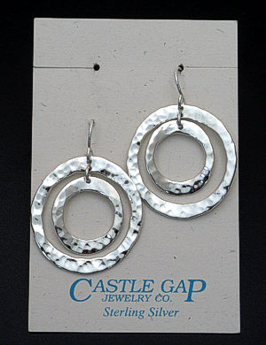 Zina - Sterling Silver Rippled Circles Earrings #37461 $135.00