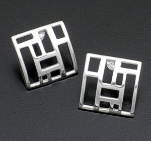 Zina - Sterling Silver Windows Earrings #37761 $160.00