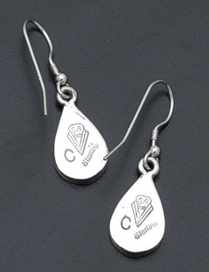 Supersmith Inc. - David Rosales Designs - Arizona Blue Sterling Silver Teardrop Earrings #38238 Style ER006 $165.00