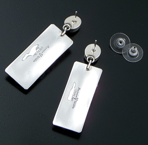 Ronnie Willie (Navajo) - Multistone & Sterling Silver Beaded Four Corner Post Dangle Earrings #38871 $270.00
