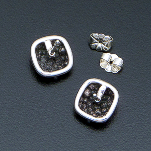 Zina - Square Sterling Silver Raindrops Earrings #40882 $60.00