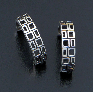 Zina - Finestra Sterling Silver Hoop Earrings #41780 $110.00