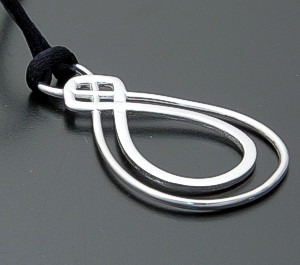"Zina - 18"" Infinity Sterling Silver & Silk Cord Pendant Necklace #39600 $110.00"