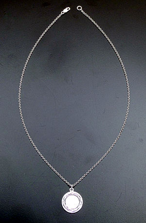 "Zina - 17"" Waves Sterling Silver Disk Pendant Necklace #39602 $90.00"