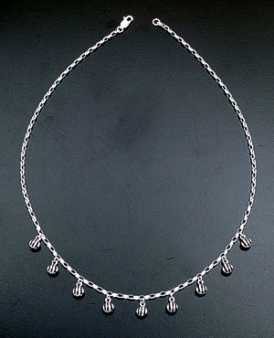 "Zina - 17"" Waves Multiple Sterling Silver Pendant Necklace #39613 $210.00"