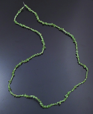 "36"" Long Continuous Peridot Nugget Necklace #43382 $30.00"