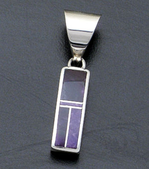 Supersmith Inc. - David Rosales Designs - Plum Crazy Small Rectangle Sterling Silver Pendant #37496 Style P105 $210.00