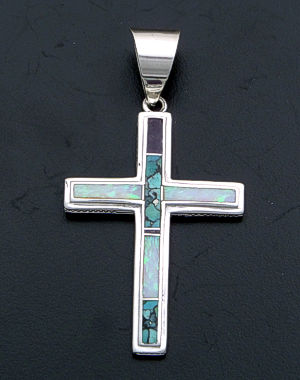Supersmith Inc. - David Rosales Designs - Shalako Sterling Silver Cross Pendant #4928 Style P185 $230.00