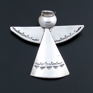 Anne Pabcito (Navajo) - Stamped Sterling Silver Angel Pin/Pendant #2415 $110.00