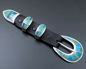 Supersmith Inc. - David Rosales Designs - Pine Hill Inlay & Sterling Silver Ranger Set #39940 Style BK021 $860.00