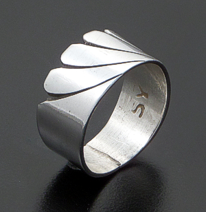Steve Yellowhorse (Navajo) - Vintage Cut & Stamped Sterling Silver Ring #36816A Size 7 $75.00