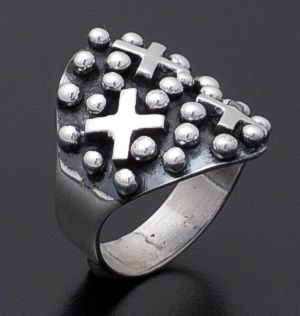 Ronnie Willie - Sterling Silver Four Corners Ring #37893 Size 6 $150.00