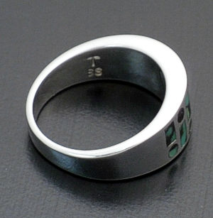 Supersmith Inc. - David Rosales Designs - Chaparral Inlay & Sterling Silver Code Talker Ring #37924 Style R153 $270.00