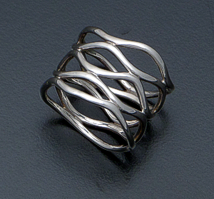 Zina - Five Band Sterling Silver Wave Ring #40277 $150.00
