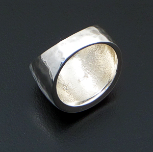 Zina - Wide Domed Sterling Silver Ripple Ring #41781 $225.00