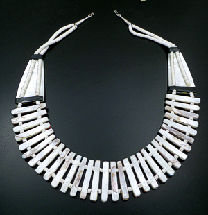 "Delbert Crespin</a> (Santo Domingo) - Cleopatra Multistone Inlay 24""  Long Necklace & Earrings Set #42060 $1,050.00"